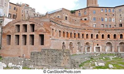 Trajan's market, Roma, Italy. UltraHD (4K)