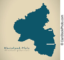 Modern Map - Rheinland-Pfalz DE new design refreshed