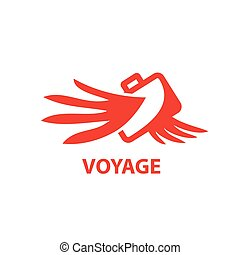 air travel logo design. Vector illustration of icon