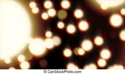 Abstract background of glowing balls. Blurred bright circles...