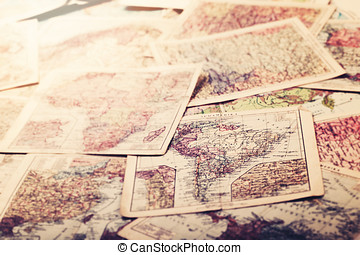old vintage maps of the world