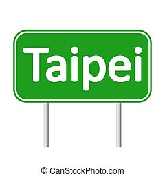 Taipei road sign. - Taipei road sign isolated on white...