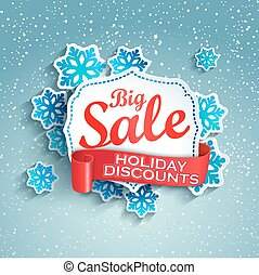 Concept of holiday discount, vector.