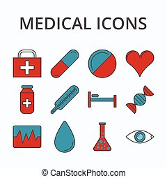 medicine icon set - Medicine icon set isolated on...