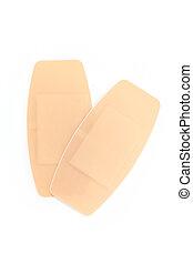 isolé, Collant, grand,  bandage, fond, blanc