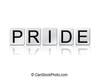 conceito, letras, isolado, tema, ladrilhado, Orgulho