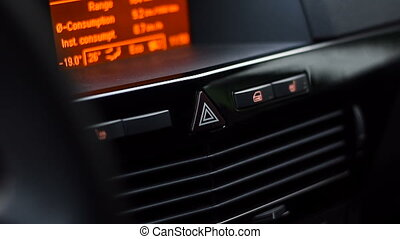 Car alarm lights button working