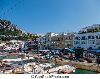 italy, capri - the island of capri in italy