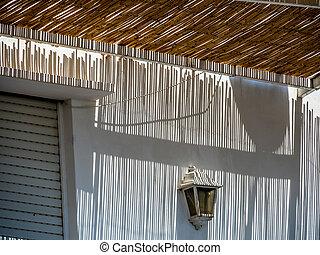 shade - various shade on a terrace. italy, capri.
