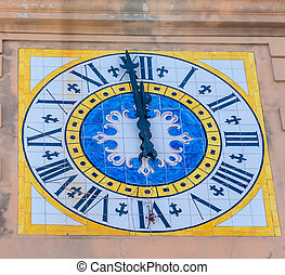 italy, capri - the island of capri in italy. clock tower...