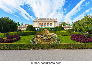 City garden in Vienna, Austria