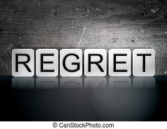 thème,  concept, lettres,  regret, carrelé