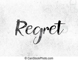 peint,  concept,  regret, encre