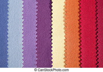 Background of colorful vertical stripes of serrated cotton...