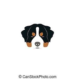 St. Bernard dog head. Vector illustration style Flat.