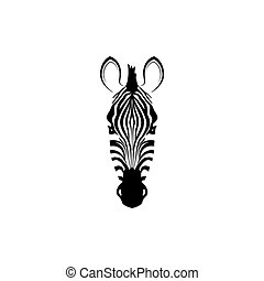 Label with the head of a zebra.