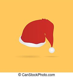 Simple Christmas Hat - Simple Red Christmas Hat, Vector,...
