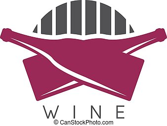 abstract icon vector design template of wine bottles