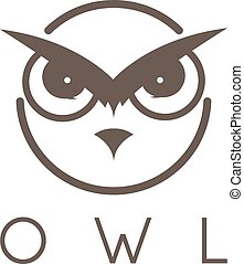 Vector illustration concept of abstract owl face