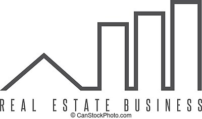 real estate business simple icon vector design template