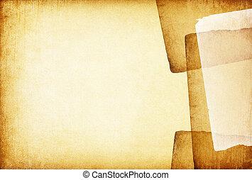 Årgång, abstrakt, gammal, bakgrund, papper