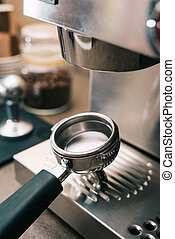 Coffee portafilter - Empty coffee potrafilter with basket...