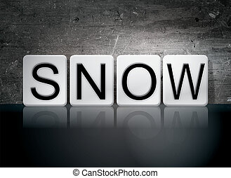 "Snow Tiled Letters Concept and Theme - The word ""Snow""..."
