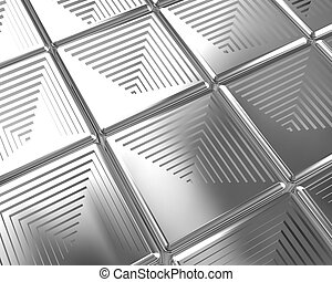 Shiny silver tiles background