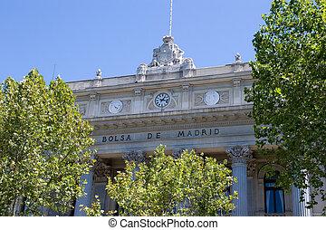 Madrid Stock Exchange - The Madrid Stock Exchange in Spain