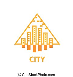 vector logo city