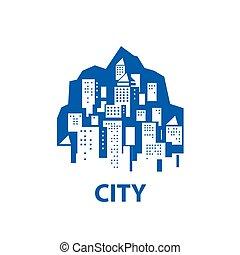 vector logo city