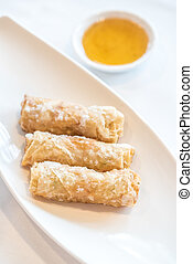 shrimp EggRolls - Chinese dim sum Fried Pork and shrimp...