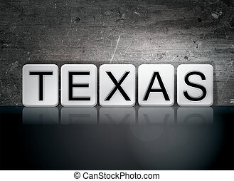 "Texas Tiled Letters Concept and Theme - The word ""Texas""..."