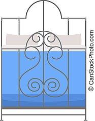 Sleeping bed vector. - Exclusive sleeping bed furniture...