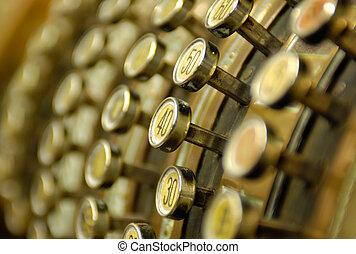 Vintage cash register - Golden vintage cash register