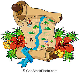Treasure Map with Clipping Path