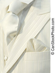 White wedding suit - Part of a white wedding suit