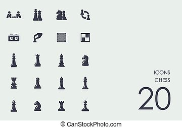 Set of chess icons