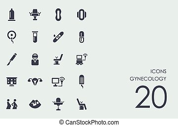 Set of gynecology icons - gynecology vector set of modern...