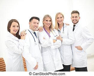 Portrait of happy medical team - Team of medical...
