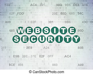 Protection concept: Website Security on Digital Data Paper...