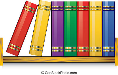Bookshelf over white. Vector illustration. EPS 8, AI, JPEG