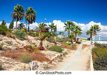 Coast view near Kalymnos Beach in Cyprus. - Beautiful coast...