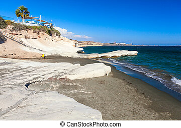 Coast view near Kalymnos Beach in Cyprus. - Beautiful coast...