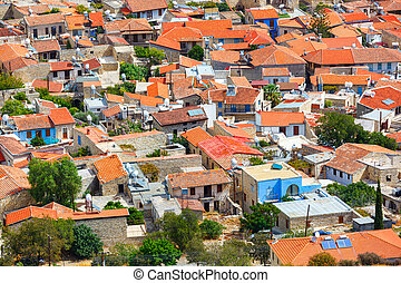 Pano Lefkara village in Cyprus. - Panoramic view of Pano...