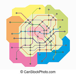 fictional underground map - fictional map of the transport...