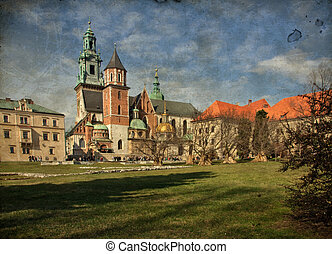 beautiful polish architecture from krakow city poland -...