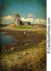 grunge castle from the west of ireland - photo grunge castle...