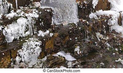 Frozen waterfall. UltraHD (4K)