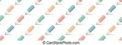 multicolored pencils on white